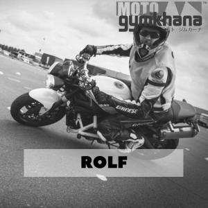 Rolf competitie Moto Gymkhana